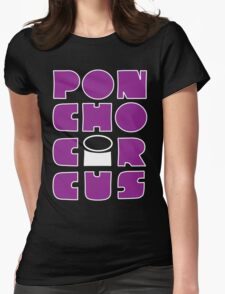 Poncho Circus - Block Purple Womens Fitted T-Shirt