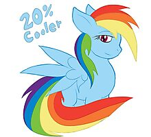 Rainbow Dash 20% Cooler Photographic Print