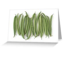 Green Beans as a Healthy and Nutritious Vegetable Greeting Card