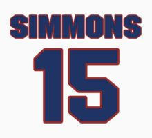Basketball player Cedric Simmons jersey 15 by imsport