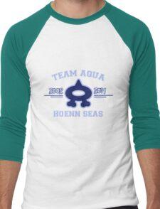 Team Aqua Men's Baseball ¾ T-Shirt
