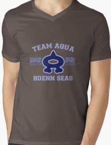 Team Aqua Mens V-Neck T-Shirt