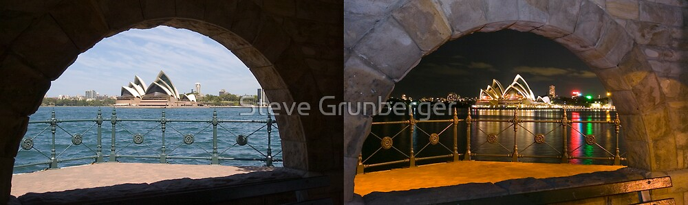 Sydney Opera House by Day & Night by Steve Grunberger