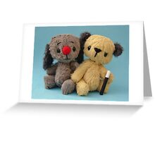 Mini Sooters and Mini Sweepers - Handmade bears from Teddy Bear Orphans Greeting Card