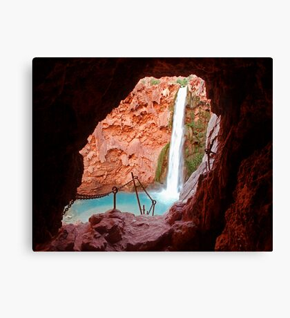 Moony Falls Tunnel Canvas Print