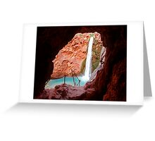 Moony Falls Tunnel Greeting Card