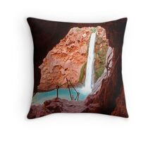 Moony Falls Tunnel Throw Pillow