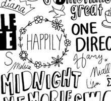 midnight memories collage Sticker