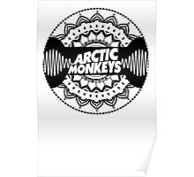 Arctic Monkeys Mandala Circle Print Poster