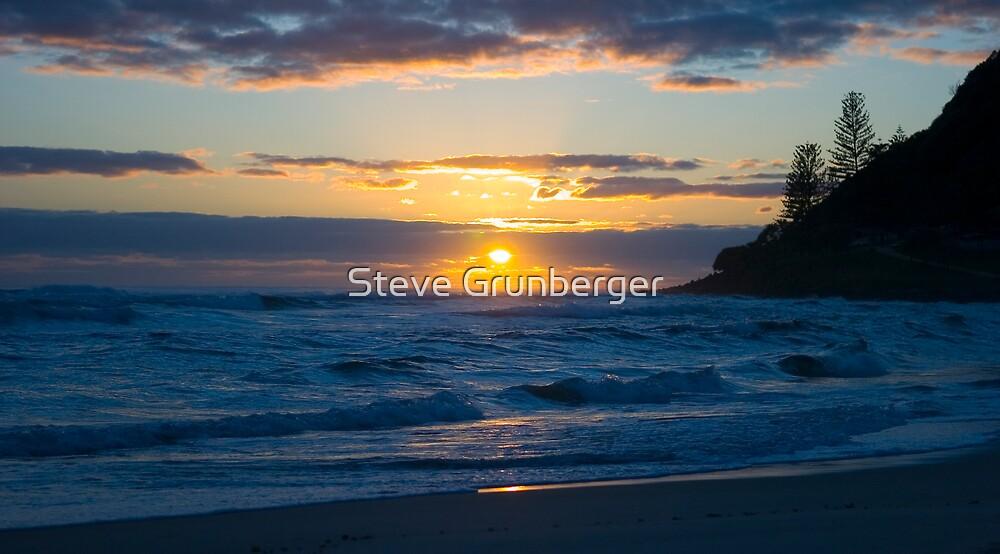 Burleigh Heads Sunrise by Steve Grunberger