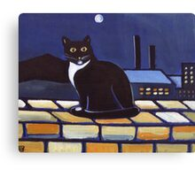 Industrial cat  (from my original acrylic painting) Canvas Print