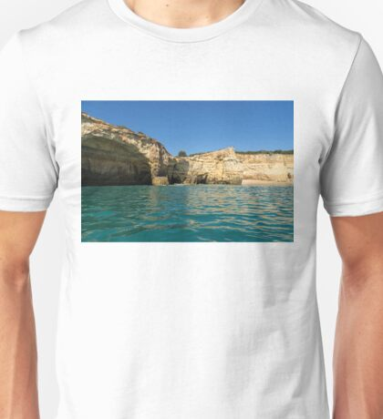 Jewel Toned Ocean Art - Gliding by Sea Caves and Secluded Beaches Unisex T-Shirt