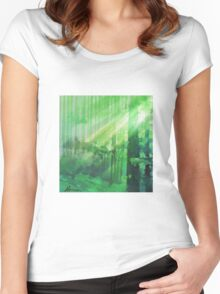 Forest Rays Women's Fitted Scoop T-Shirt
