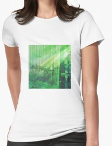 Forest Rays Womens Fitted T-Shirt