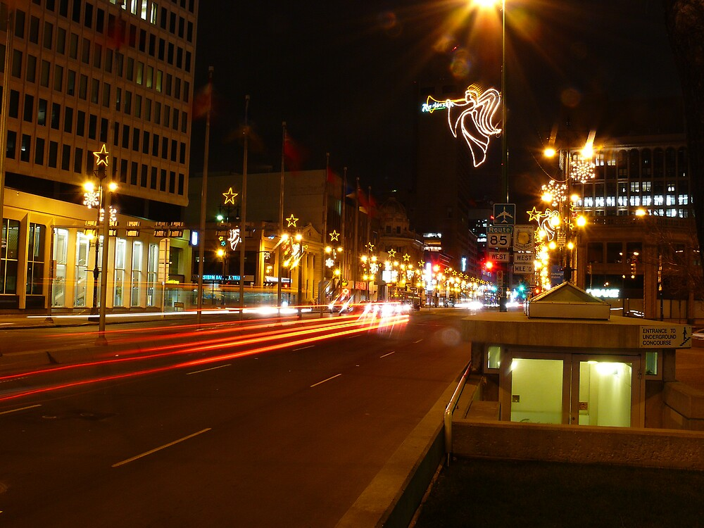 Downtown Winnipeg Night by Geoffrey