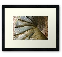 Looking Up The Spiral Stairs Framed Print