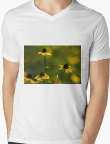 Field of Yellow Wildflowers Mens V-Neck T-Shirt