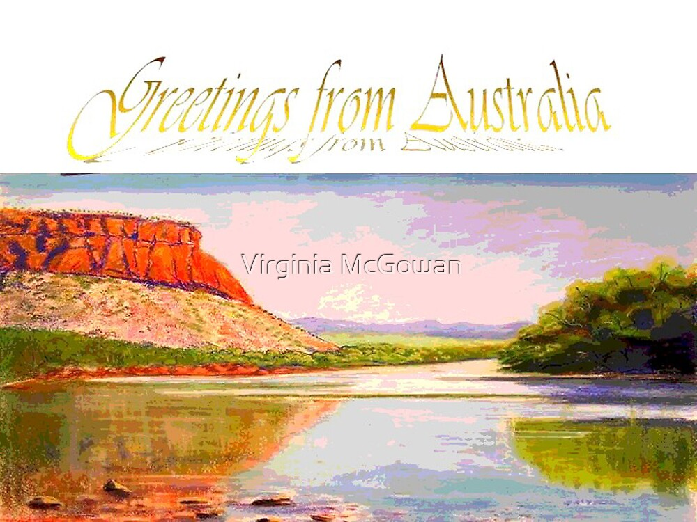 Victoria River crossing greeting Card by Virginia McGowan
