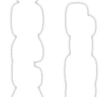 Korra's Antagonists - Legend of Korra (White Lettering) Sticker