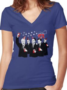 Democratic Party Women's Fitted V-Neck T-Shirt