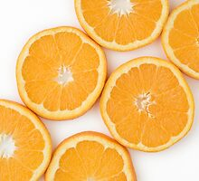 Sliced Oranges as Healthy and Nutritious Fruit by etienjones