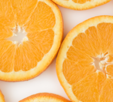 Sliced Oranges as Healthy and Nutritious Fruit Sticker