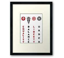 Korra's Antagonists - Legend of Korra (Red / Black Lettering) Framed Print