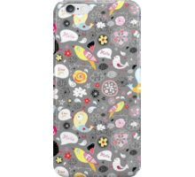graphic pattern of birds iPhone Case/Skin