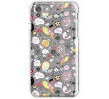 graphic pattern of birds iPhone Case/Skin