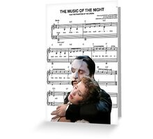The Music of the Night - Phantom of the Opera Greeting Card