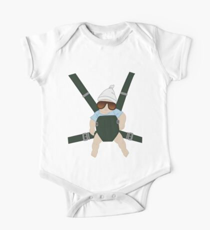 Hangover Baby Carlos in Carrier One Piece - Short Sleeve