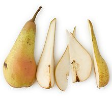 Sliced Pear as Healthy and Nutritious Fruit by etienjones
