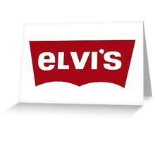 elvis like levis Greeting Card