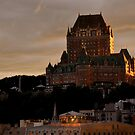 Fairmont Le Chateau Frontenac Quebec, Canada by Margaret  Shark