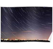 Star Trails / Perseid Meteor Shower Poster