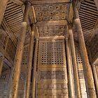 Myanmar. Mandalay. Teak Monastery. Interior. by vadim19