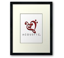 Acoust1c Heart Framed Print