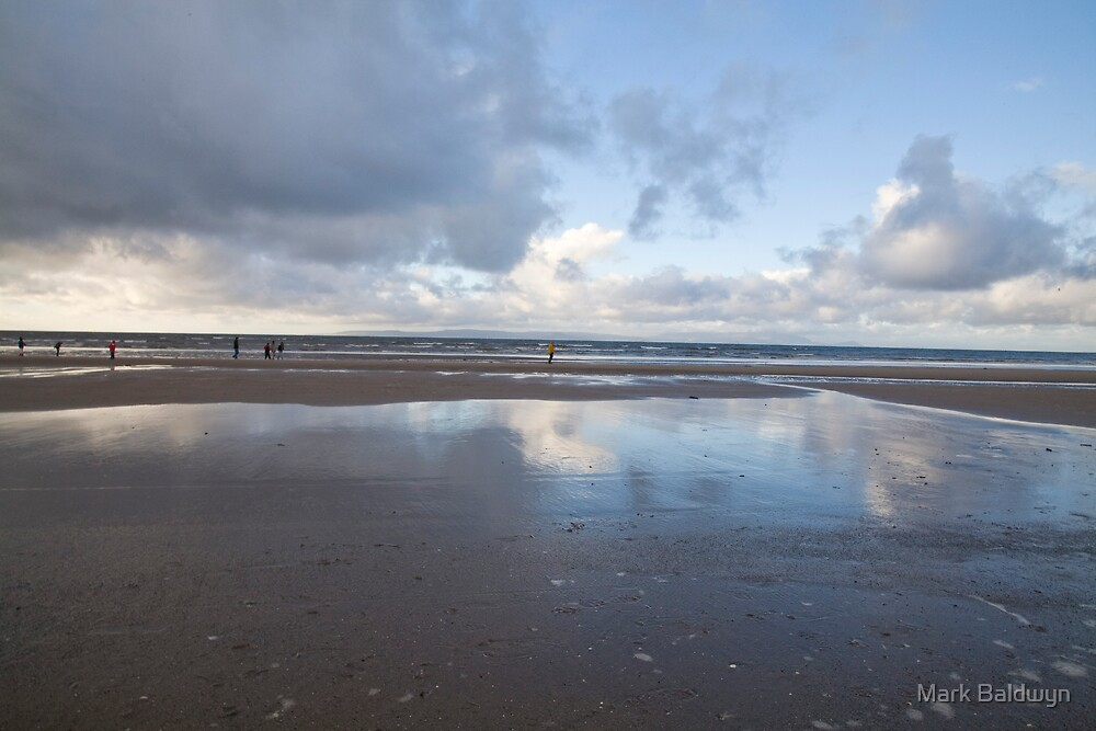 Beach walk in winter by Mark Baldwyn