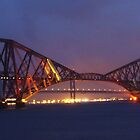 The Forth Bridge at Dusk by Steven McEwan