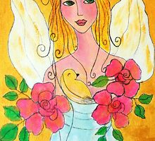 Angel-face-card by Renate  Dartois