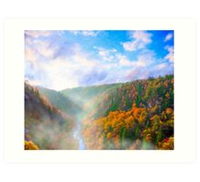 Ancient Landscapes - Tallulah Gorge In North Georgia Art Print