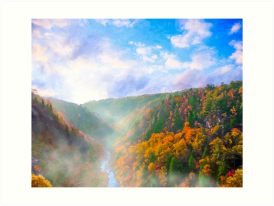Ancient Landscapes - Tallulah Gorge In North Georgia by Mark Tisdale