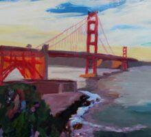 Golden Gate Bridge San Francisco at Sunset Sticker