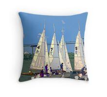 Sailing Team Throw Pillow