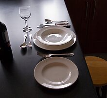 Dinner alone by Mark Baldwyn