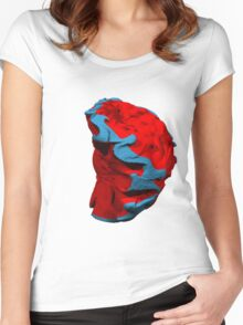 Red blue thingy Women's Fitted Scoop T-Shirt