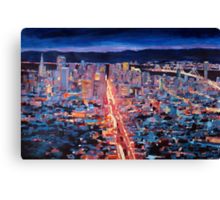 Golden Gate Bridge San Francisco at Sunset Canvas Print
