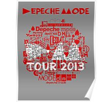 Depeche Mode : Tour Logo 2013 - With old logo  Poster