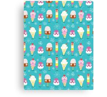funny pattern of ice cream Canvas Print