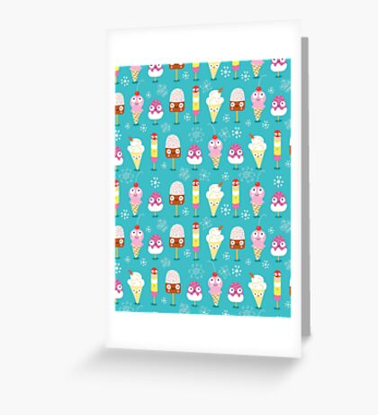 funny pattern of ice cream Greeting Card